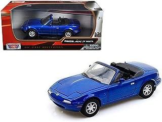Motormax Mazda MX-5 Miata, Blue 73262BU - 1/24 Scale Diecast Model Toy Car
