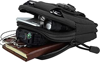 FUNANASUN Tactical Molle Pouch EDC Men Belt Waist Bag Utility Gadget Gear Tool Organizer Pocket with Cell Phone Holster Holder for for iPhone 6s/7/X Samsung S8 Pixel Moto Z Force Play