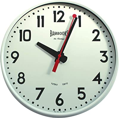 TOSSDICE 掛け時計 RED POINTER WALL CLOCK/ホワイト TDPL443WH
