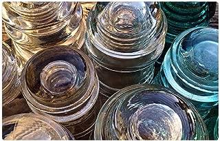 Tree26 Indoor Floor Rug/Mat (23.6 x 15.7 Inch) - Insulators Glass Antique Insulation