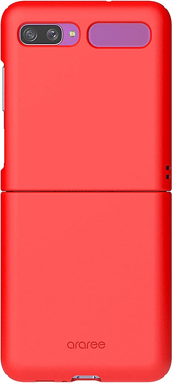 araree AERO Hard Sturdy Polycarbonate Full Protection Cover Compatible with Samsung Galaxy Z Flip/Z Flip 5G case, Ultra-Thin Ergonomic Grip Case - Red