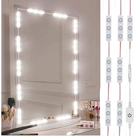 Led Vanity Mirror Lights Hollywood Style Vanity Make Up Light 10ft Ultra Bright White Led Dimmable Touch Control Lights Strip For Makeup Vanity Table Bathroom Mirror Mirror Not Included