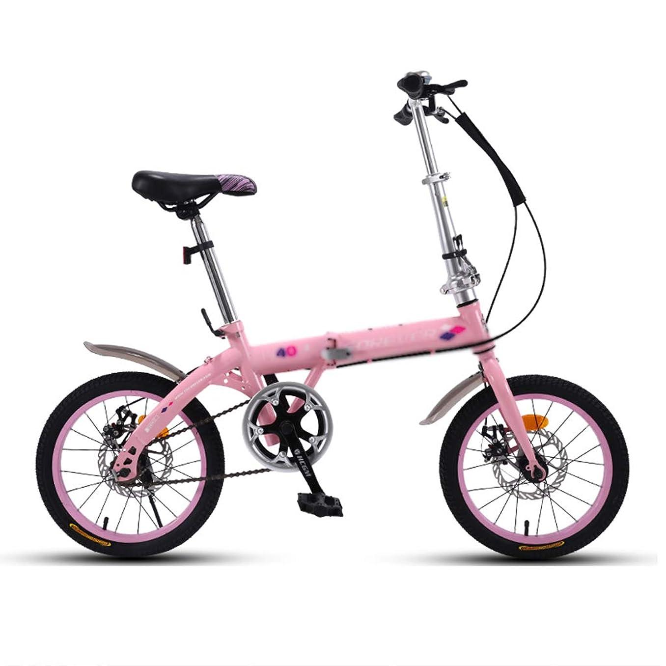進行中探す受賞子供用折りたたみ式マウンテンバイクは、どこにでも簡単に折りたたむことができ、前後にダブルディスクブレーキをかけることができます。