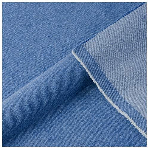 stretch stoff Gewaschener Jeansstoff Weicher Stoff Aus 100% Baumwolle Extra Dicke Jacke Hose Hemd Und Schürze Handgemachtes DIY-Nähen Extra Dicker Denim Farbe: Himmelbla(Size:1.5M*5M,Color:Juwel blau)