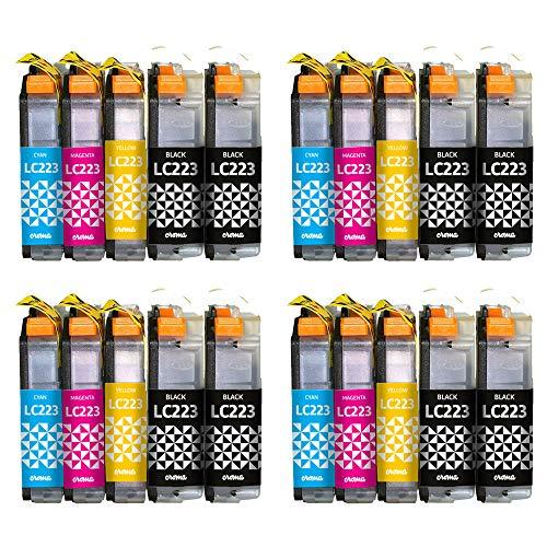 Croma - Pack 20 Cartuchos LC223/LC223XL Cartuchos de Alta Capacidad. Tinta Compatible Impresoras Brother DCP-J4120DW J562DW MFC-J4420DW J4620DW J4625DW J480DW J5320DW J5620DW J5625DW J5720DW J880DW