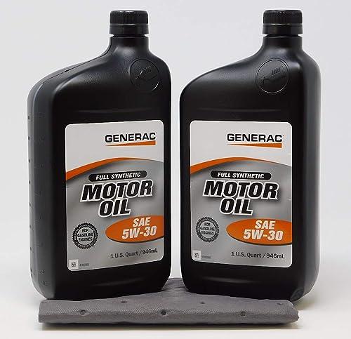 2021 Generac lowest Full Synthetic Motor Oil 5W-30 SN Quart Bottle Part# outlet sale 0J5140 (qt) 2-Pack sale