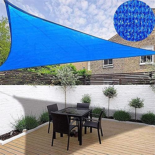 Velas de sombra para patio Sun Shade Shade Canopy Tweing para el jardín del patio al aire libre 3.6mx3.6mx3.6m Partido del triángulo cubierta de protección solar 95% bloque UV con cuerda libre en lien
