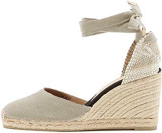 91e5ba3c0eaed2 Minetom Femme Mode Sandale Espadrille Lanière Sandals Talon Compensé  Plateforme Été Casual Romaines Sandals Doux