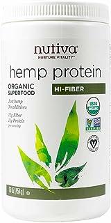 Nutiva Hemp Protein Powder, Organic,16 ounce(454 g)
