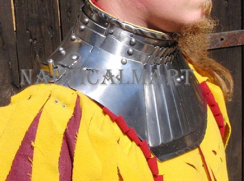 NAUTICALMART Medieval Knights Steel Plate Armor Gorget