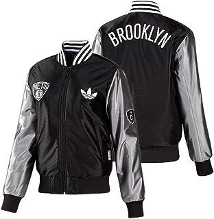 c136ebc7a952f9 adidas Reti di Brooklyn NBA Giacca Giacca Sportiva Giacca Bomber Donna Nuovo