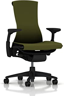 Herman Miller Embody Ergonomic Office Chair | Fully Adjustable Arms and Carpet Casters | Green Apple Rhythm