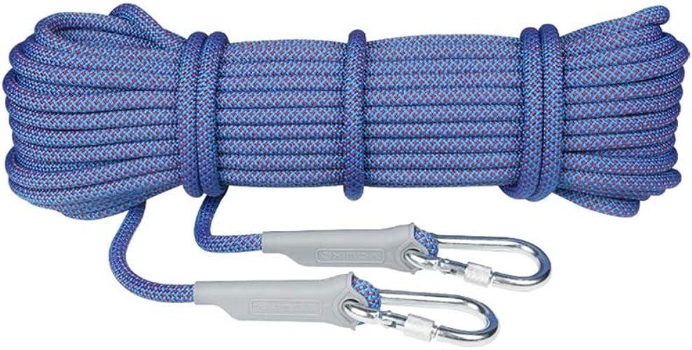 LBYMYB Corde d'escalade adaptée au Camping Rrock Alpinisme Randonnée Plongée Diamètre 8 10.5 12   14mm Bleu Corde d'escalade (Taille   12mm 20m)