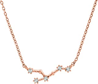 14K Gold Plated Astrology Constellation Horoscope Zodiac Necklace 16-18