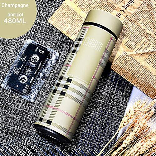 sxzh Wasserflasche 350 Ml / 450 Ml Vakuum-Edelstahl-Trinkflasche Tragbares Werbegeschenk Trinkflasche Außenreisetasse 350Ml Gelb