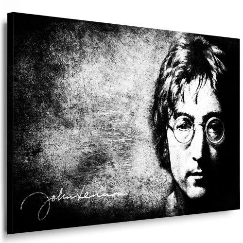 Bild auf Leinwand Beatles Lennon l Bild 100x70cm k. Poster. Bild fertig auf Keilrahmen ! Pop Art Gemälde Kunstdrucke, Wandbilder - Bilder zur Dekoration - Deko. Musik Stars Kunstdrucke