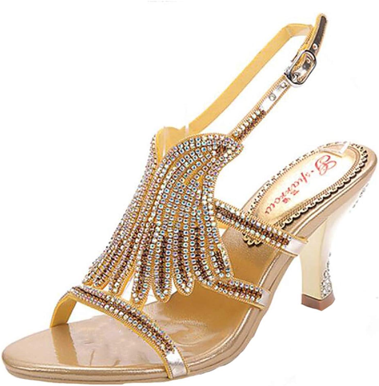 Fantastisk Boutique Woherrar Satin bröllop Bridal Evening Party Diamante Diamante Diamante Mid Heel Bar skor Sandals  bästsäljare
