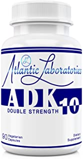 Atlantic Laboratories ADK 10 Double Strength -A D3 K2 (as MK-7) 90 Count Vitamins Organic Ingredient Physic...