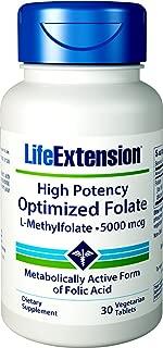 Life Extension - High Potency Optimized Folate L-Methylfolate 5000 mcg - 30錠 ハイポテンシー オプティマイズド フォレート L-メチルフォレート 海外直送品