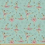 ABAKUHAUS Ballett Stoff als Meterware, Ballerinas in