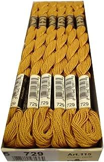 DMC Bulk Buy Thread Pearl Cotton Skeins Size 5 27.3 Yards Medium Old Gold 115 5-729 (12-Pack)