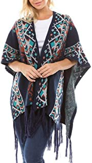 MogogoWomen Fall Winter Caftan Poncho Cardi Leisure Pullover Top Blouse