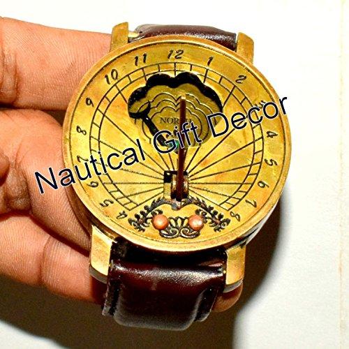 Stile solido marino ottone meridiana bussola orologio da polso tipo di lavoro bussola regalo (00710)