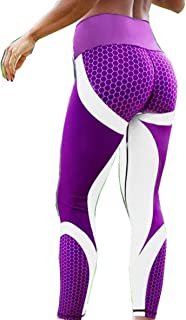 Gym Leggings Hot Honeycomb Printed Yoga Pants, Women Push Up Sport Leggings Professional Running Leggins, Sport Fitness Ti...
