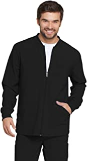 EDS Essentials Men's Zip Front Warm-Up Scrub Jacket