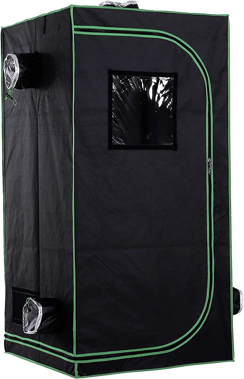 AJLDN 600D Grow Tents 80x80x160cm Hydroponic Tent Mylar Arlington Mall w Direct store