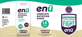 ENU Vanilla Cream Complete Nutrition Shakes for Weight Gain - 18-pack, 8.4 fl oz (250mL) each