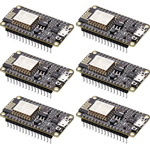 6 Teiliges 2,4-GHz-Dual-Mode Entwicklungsboard Drahtloses WiFi-Internetmodul für ESP8266 NodeMCU CP2102 ESP-12E Kompatibel mit Arduino