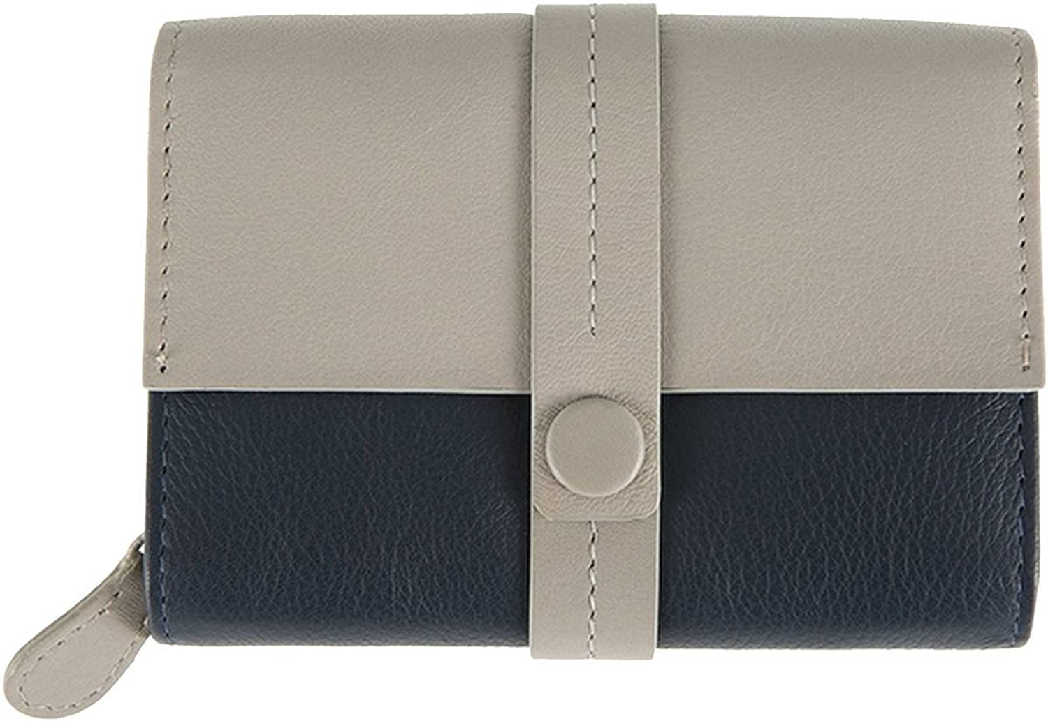Dents Womens Small Block Colour Purse  Off White Navy