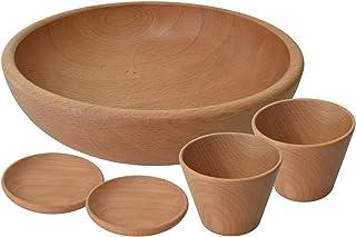【TOUGEIギフト】氷が溶けにくい木の器 素麺セット