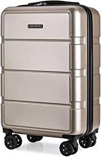 Business Suitcase Male Trolley case Female Code Box Student Suitcase Zipper Gold 24 inch
