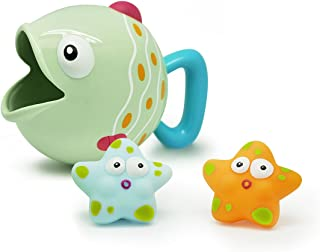 Escabbo Bath Fish Scoop with 2 Squirters