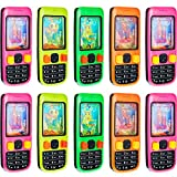 10 Pieces Cellphone Water Ring Game Colorful Handheld Phone Game Water Ring Toss Handheld Game Fun Birthday Party Favors for Brithday Gifts Contest Prize, 4 Inches