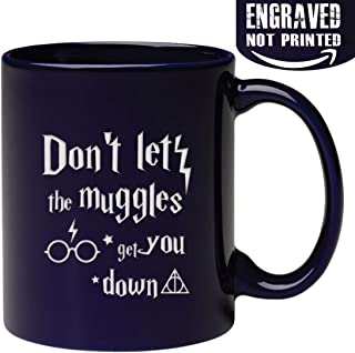 Engraved Don't Let The Mvggles Get You Down Coffee Mug - Inspirational and sarcasm, Christmas Gifts for Husband Son Boyfriend Wife Daughter Girlfriend
