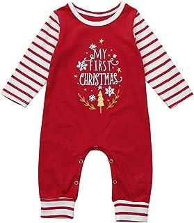0605d9215d5fe Internet Bébé Garçon Filles Merry Christmas Grenouillère Barboteuse Enfant  Bébé Cosplay Combinaison Pyjama Noël Ensemble …