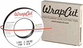 WrapCut, Edge Cutting Tape, 1/8-Inch X 200 Feet, 1 Roll, 883662001260