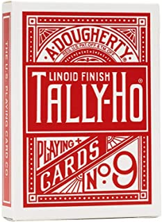 Tally Ho Fan Back Playing Cards Red or Blue