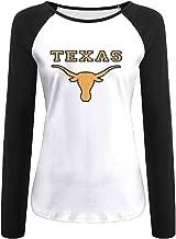 Creamfly Womens University Of Texas At Austin Long Sleeve Raglan Baseball Tshirt