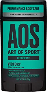 Art of Sport Men�s Deodorant Clear Stick, Victory Scent, Aluminum Free, Made with Matcha, 2.7oz