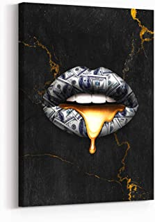 Best lips canvas wall art Reviews