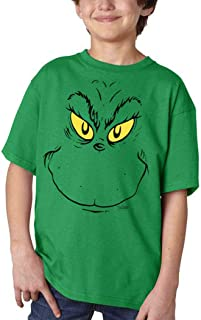 Grinch Face Youth Kids T-Shirt