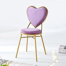 Krzesło w Kształcie Serca, Toaletka do Makijażu Złote Metalowe Nogi, Krzesła do Restauracji i Kawiarni, Dekoracja Sypialni...