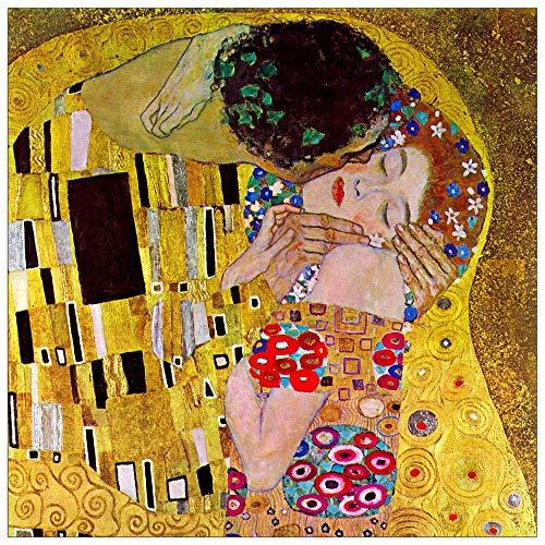 Goebel Il bacio, Klimt Mehrfarbig Quadro riproduzione G