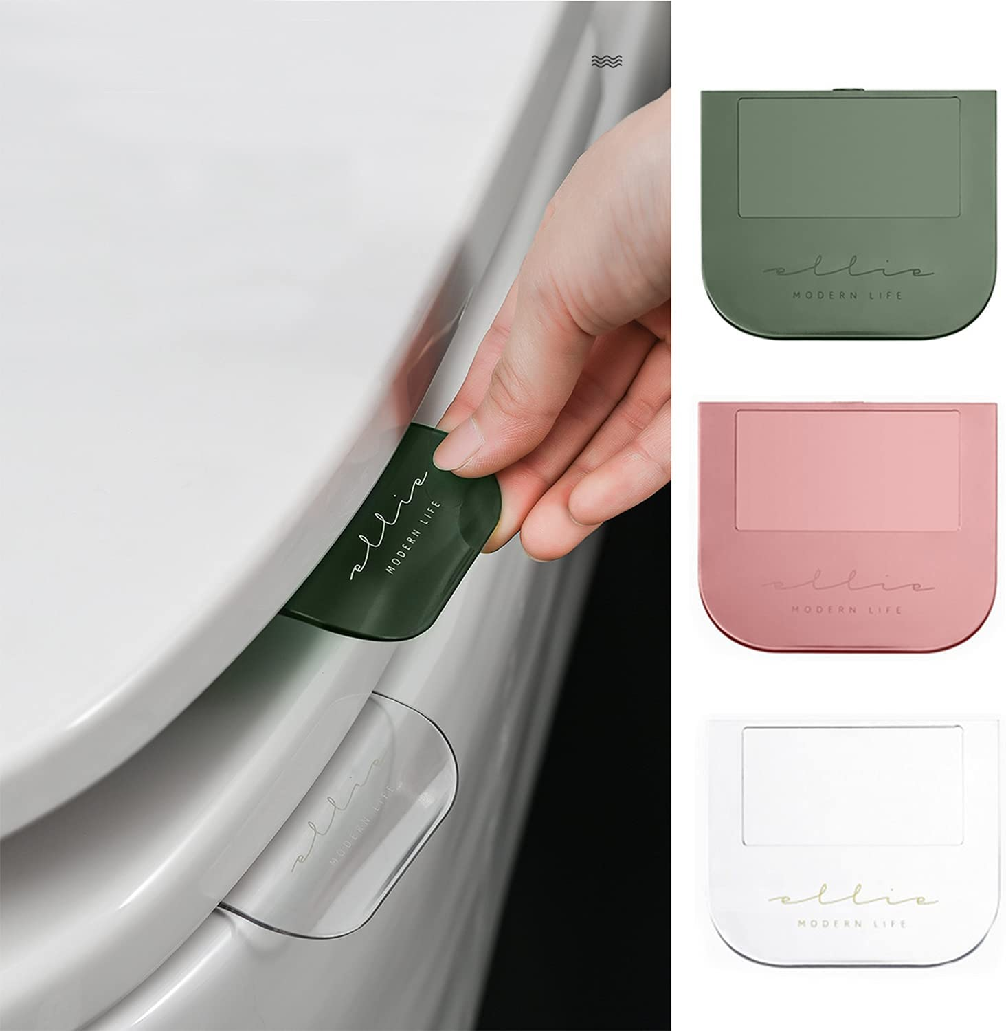 3Pcs Discount famous is also underway Toilet Seat Lifter Toi Lid Decals Handle