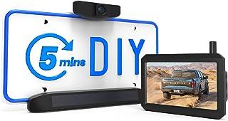 AUTO-VOX Solar Wireless Backup Camera, 5 Mins DIY Installation, 5 Inch HD Monitor with Digital Wireless Signal and HD Imag...