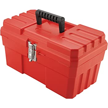 Akro-Mils 14-Inch ProBox Plastic Toolbox for Tools, Hobby or Craft Storage Toolbox with Removable Tray, Model 09514, (14-Inch x 8-Inch x 8-Inch), Red